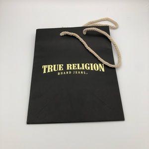 "True Religion tote bag 10"""